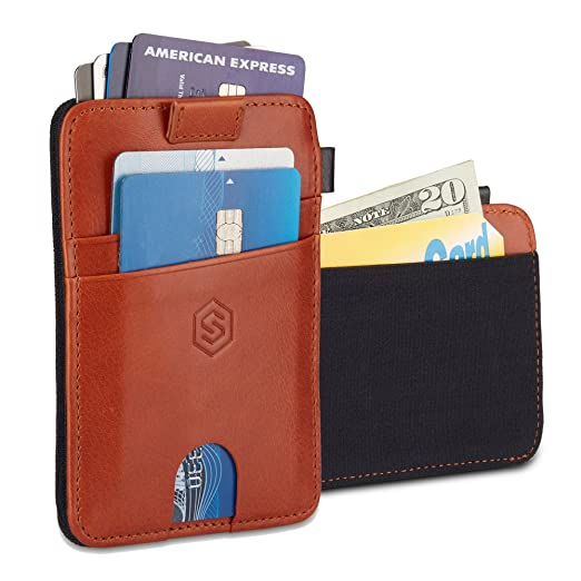 8c5e8881001 Strapo Wallet V2 - Expandable Minimalist Wallet - Slim & RFID Secure Wallet  - With Elastic