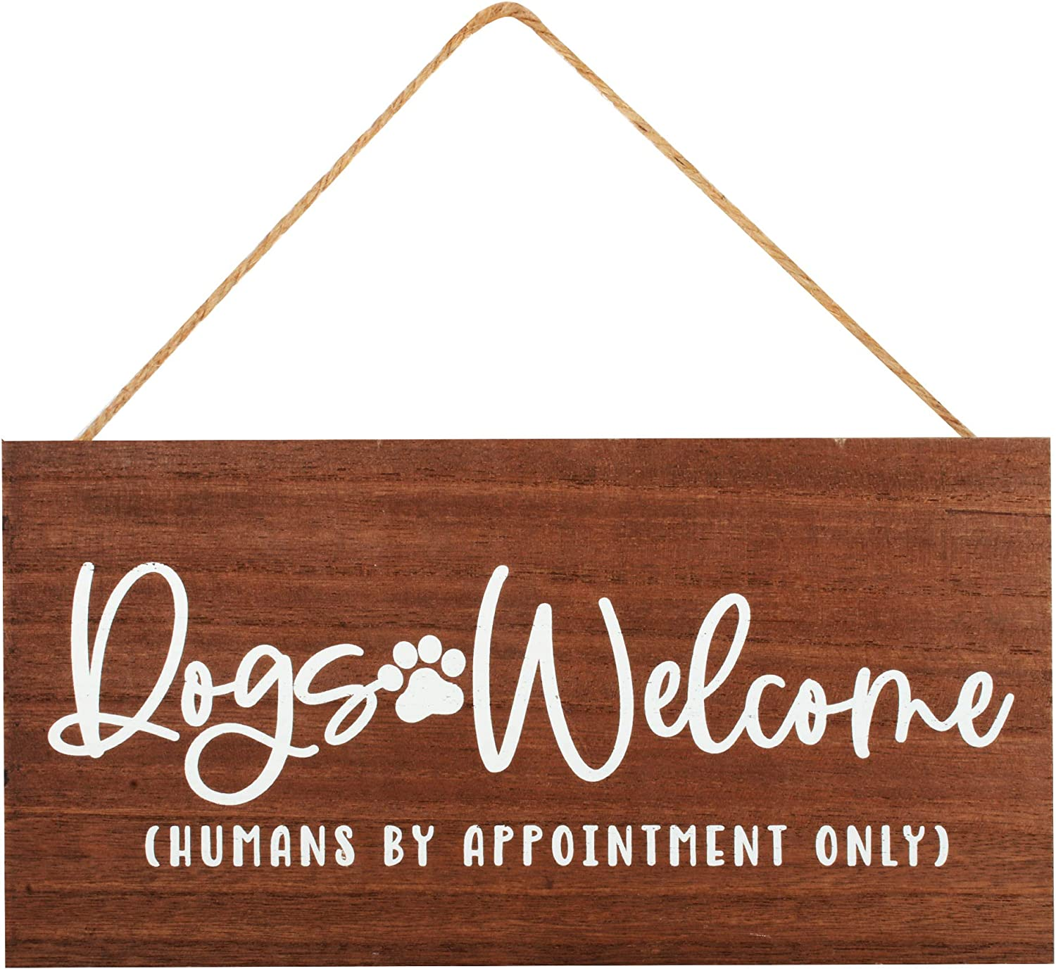 Dog Decor Welcome Sign for Front Door - Dog Mom Gifts for Women, Dog Lovers - 12