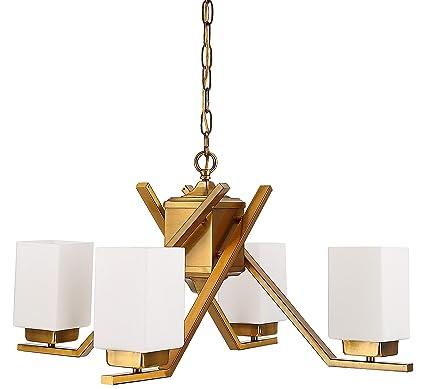 Amazon.com: Cerdeco 58543BK - Lámpara de techo colgante (4 ...