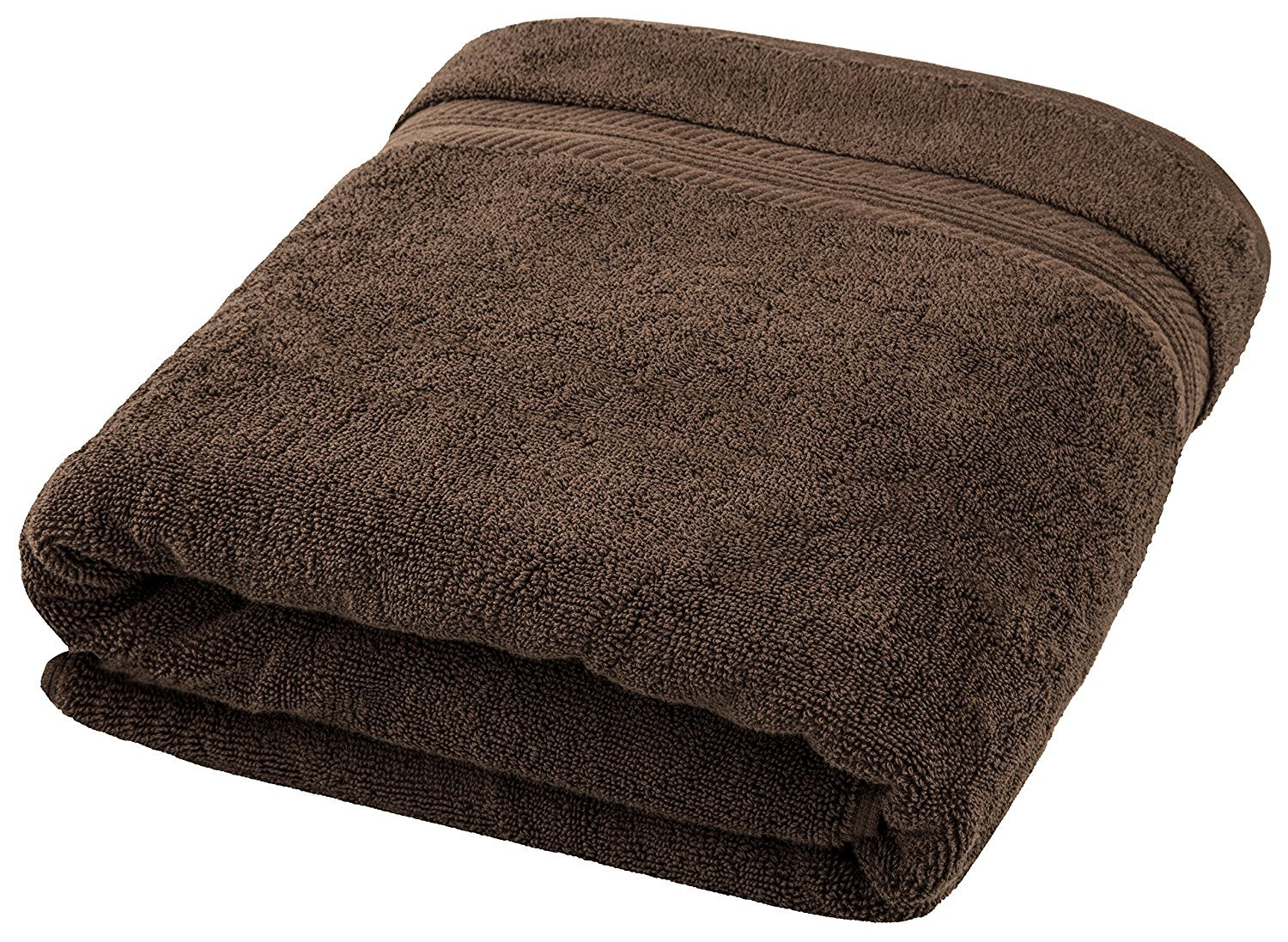650 GSM Hotel and Spa Quality, 100% Ring Spun Genuine Cotton, Absorbent, Soft, Comfortable and Large (35x70 Inches) Bath Sheet for Home, Bathroom, Pool and Beach by MoonDeal, Brown