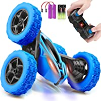 ORRENTE Remote Control Car, RC Cars 2.4GHz Fast Stunt RC Car, 4WD Double Sided 360° Rotating RC Trucks with Headlights…
