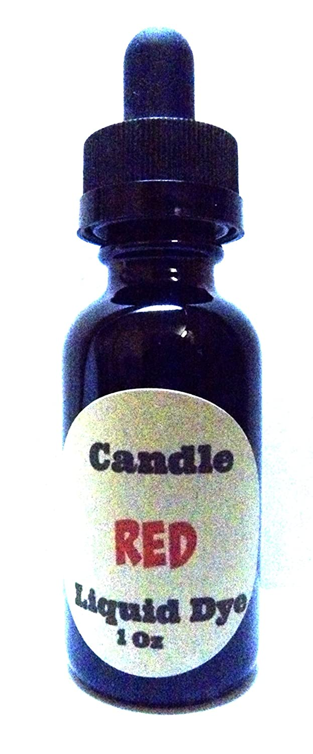 1oz Bottle of Red Highly Concentrated Liquid CANDLE Dye - Amber Glass Dropper Bottle with Childproof Cap. Mels Candles & More 4336840697