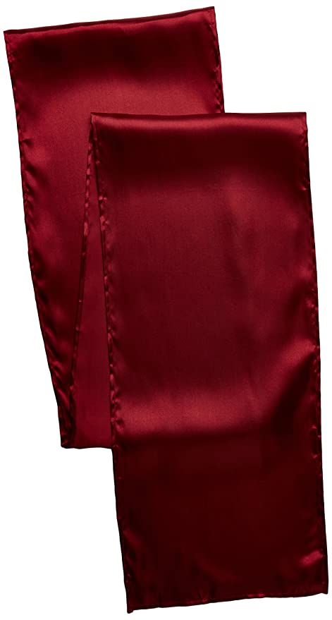 LinenTablecloth 14 X 108 Inch Satin Table Runner Burgundy