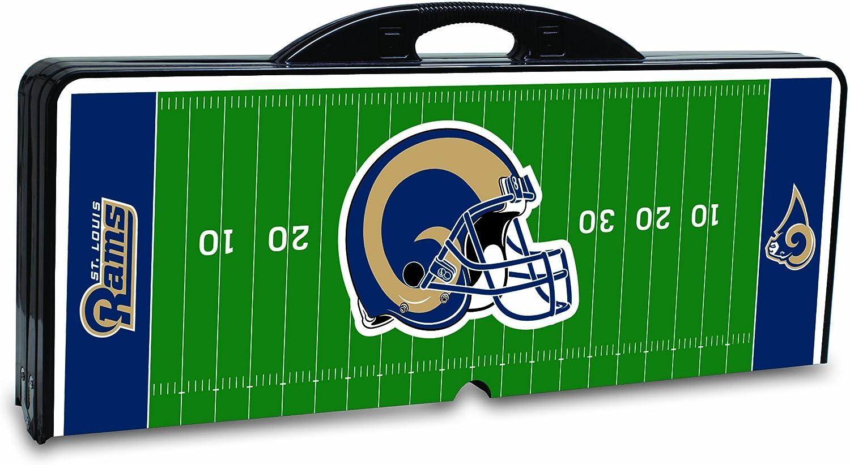 NFL St Louis Rams Football Field Design Portable Folding Table//Seats Black