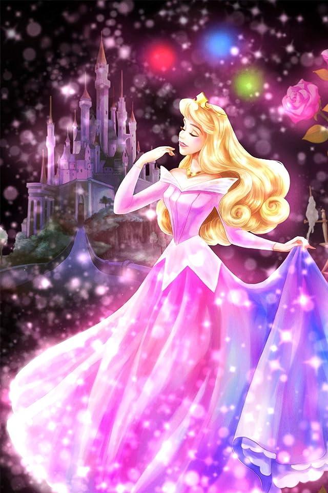 ディズニー 眠れる森の美女 恋する心の煌めき(オーロラ)  iPhone(640×960)壁紙画像