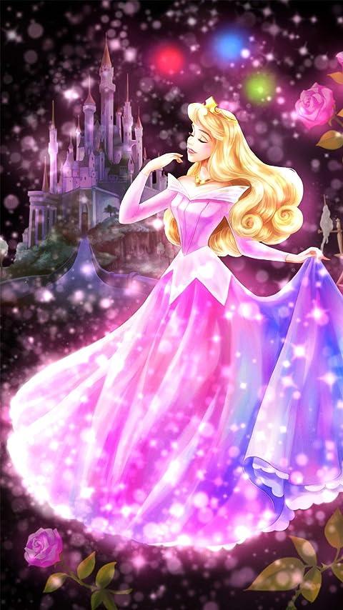 ディズニー 眠れる森の美女 恋する心の煌めき(オーロラ)  XFVGA(480×854)壁紙画像