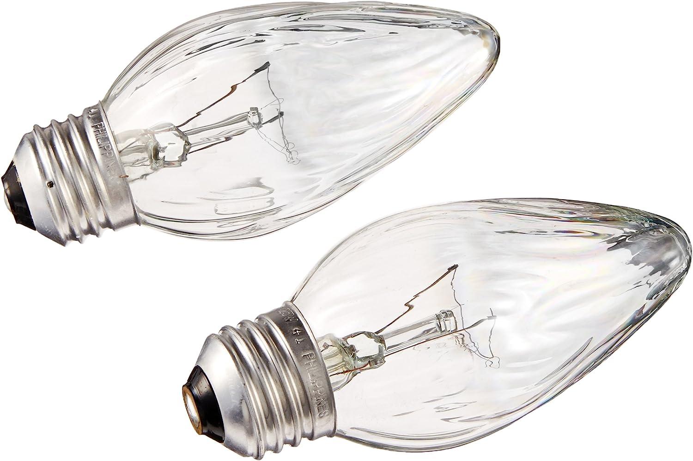 G E LIGHTING 75340 Flame Shaped Auradescent Bulb, 25W, 2-Pack