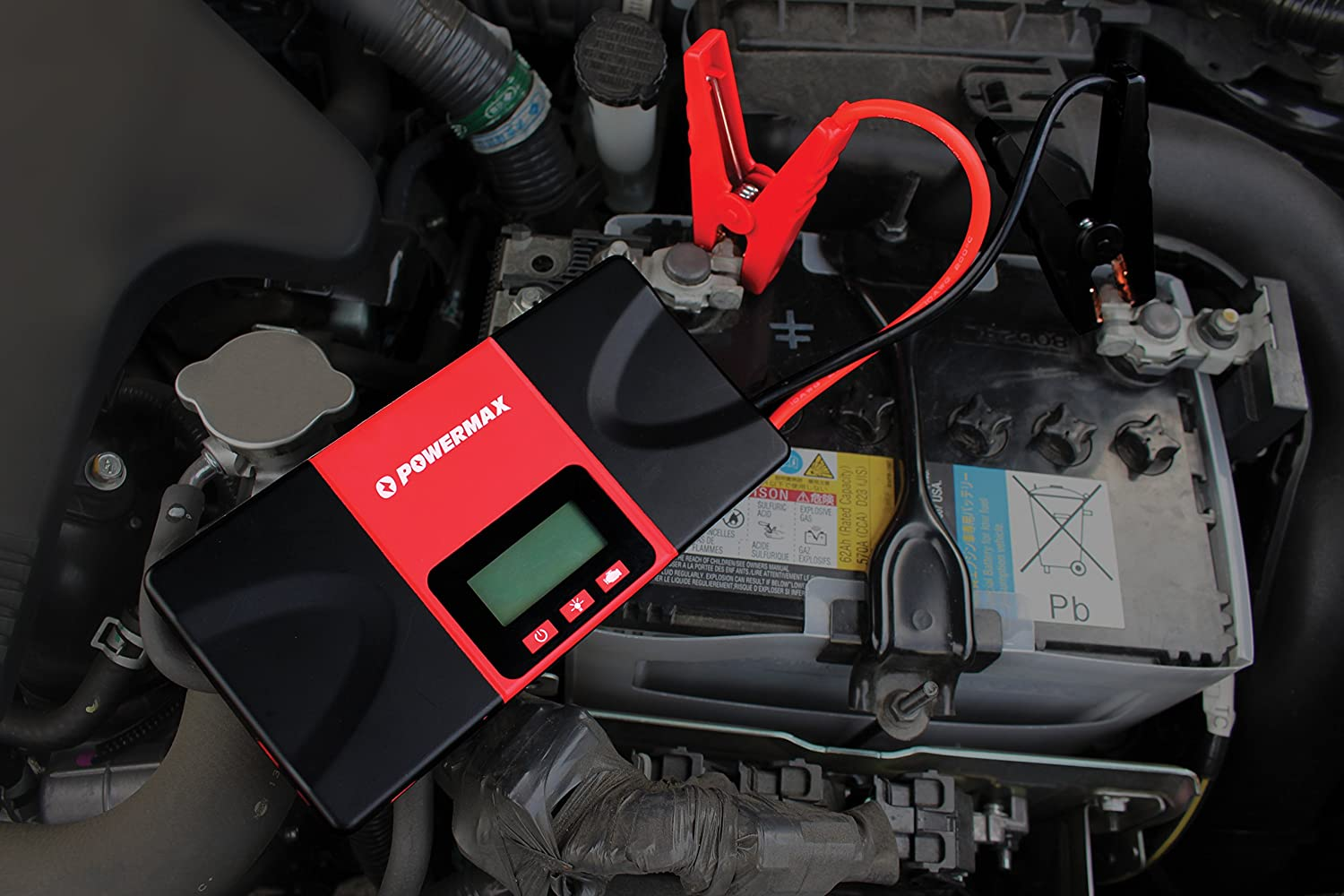 Powermax 700a Peak 18000mah Portable Car Jump Starter 2005 Dodge Charger Lx 57l V 8 Engine Firing Order And Battery Cable Routing Booster Phone With Smart Usb Charging Port Automotive