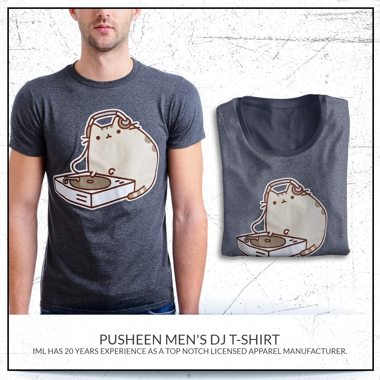 Amazon.com: Pusheen para hombre DJ playera: Clothing