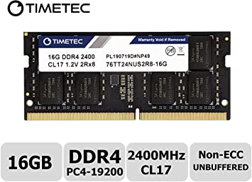 16GB Kit 2x 8GB DDR4 2400MHz PC4-19200 260 pin Sodimm Laptop Memory RAM