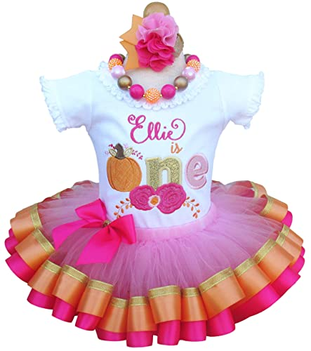 Tutu and Hair Bow ~ Can be made in any color Girl Sock Monkey Birthday Ribbon Tutu Outfit ~ Pink and Silver ~ Includes Top