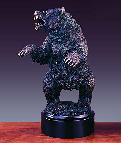 Growling Wall Street Bear Statue
