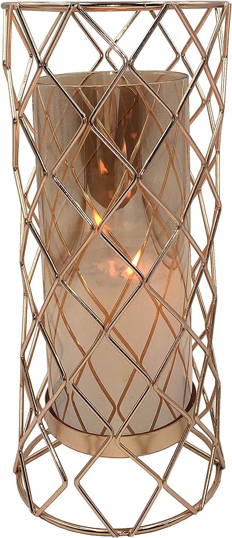 Cello Portavelas de Metal con diseño de Cuadros Grandes