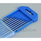 "2,0% Lanthanated WL20 Cielo Blu TIG elettrodi tungsteno (1/16 ""x 6"" e 1,6mm x150mm 10pk)"