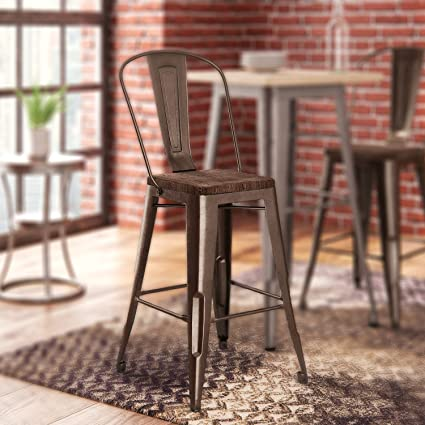 Sensational Amazon Com Fortuna 24 Bar Stool By Trent Austin Design Caraccident5 Cool Chair Designs And Ideas Caraccident5Info