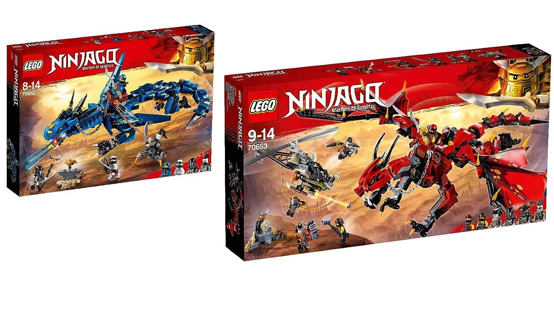 Steinchenwelt LEGO NINJAGO 2er Set  70652 Blitzdrache  70653 Mutter der Drachen B07D9N9PZH Bau- & Konstruktionsspielzeug Ab dem neuesten Modell | Online Outlet Store