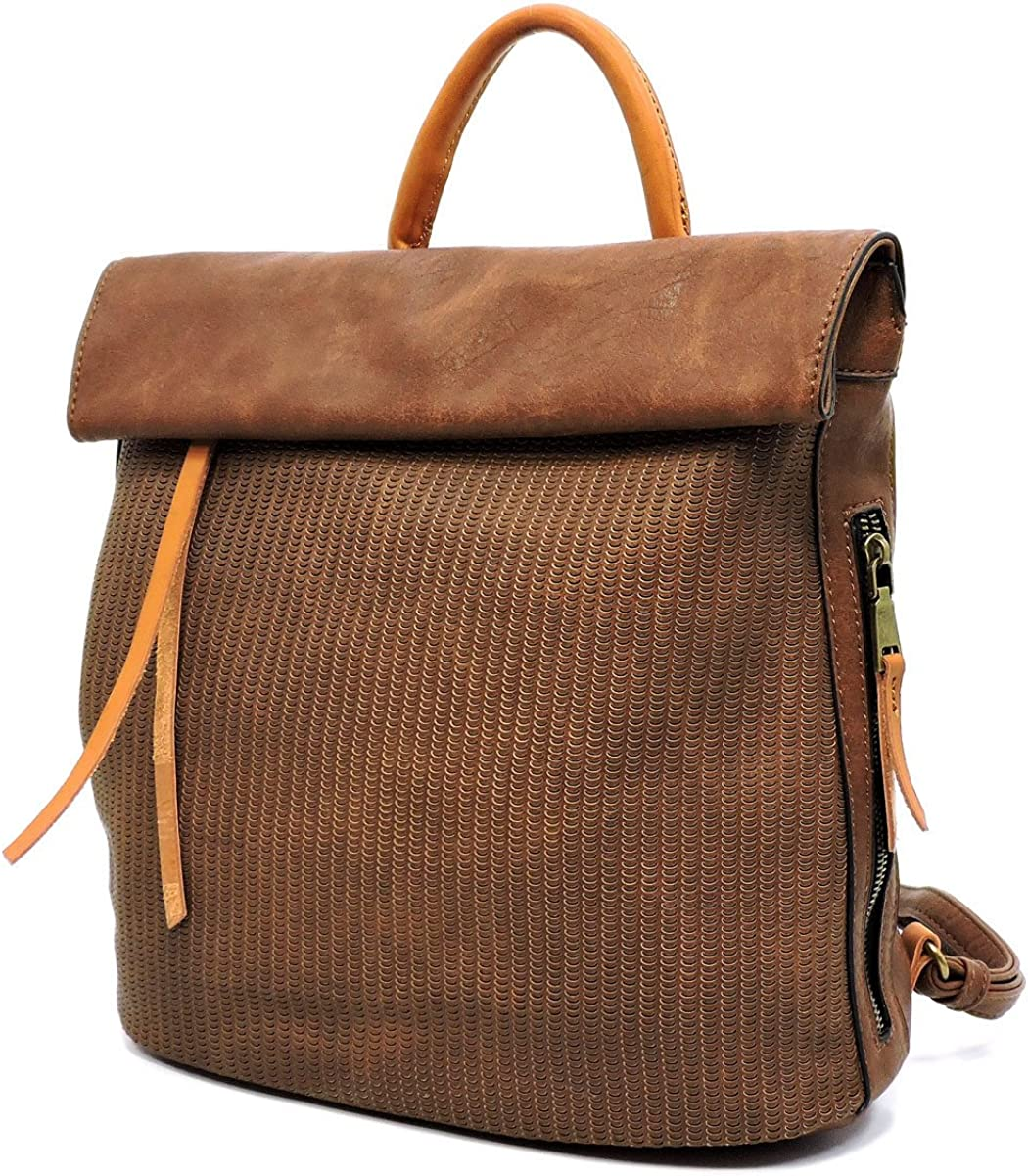 Le Miel Flap Top Zip-Top Perforated Backpack- 8 Colors