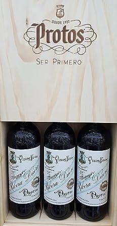 Estuche Madera Protos 27-3 Botellas 75CL: Amazon.es: Alimentación y bebidas