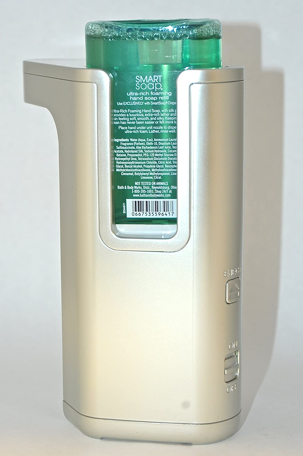 amazoncom bath  body works touch free smartsoap automatic hand  - amazoncom bath  body works touch free smartsoap automatic hand soapdispenser  silver dispenser (soap refills sold separately) home  kitchen