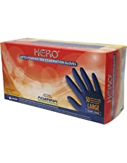 ADENNA Hero Latex Powder Free Exam Gloves, Large, (Pack of 50)