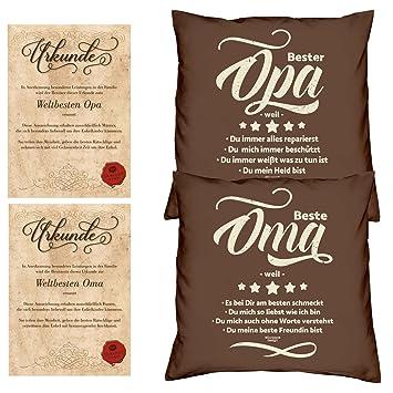Fabelhaft Soreso Design Oma & Opa -:- 2 Kissen inklusive Füllung -:- 2 #KV_93
