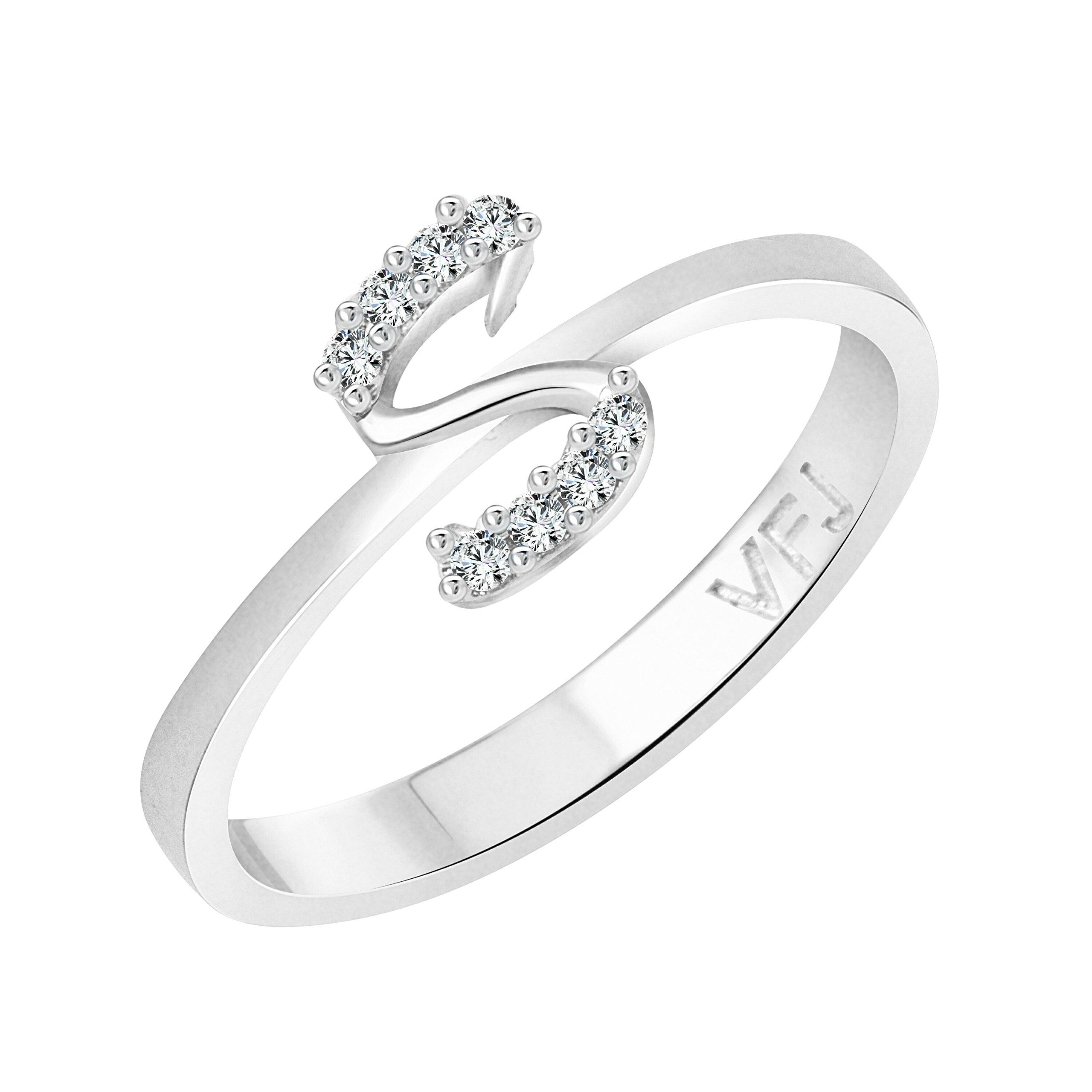 Vighnaharta Silver Initial ''S'' Alphabet (CZ) Rhodium Plated Alloy Ring for Women (B0711KBM3M) Amazon Price History, Amazon Price Tracker