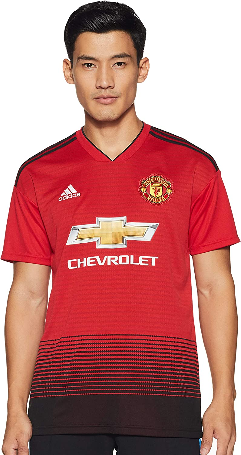 Amazon Com Adidas 2018 2019 Man Utd Home Football Shirt Clothing