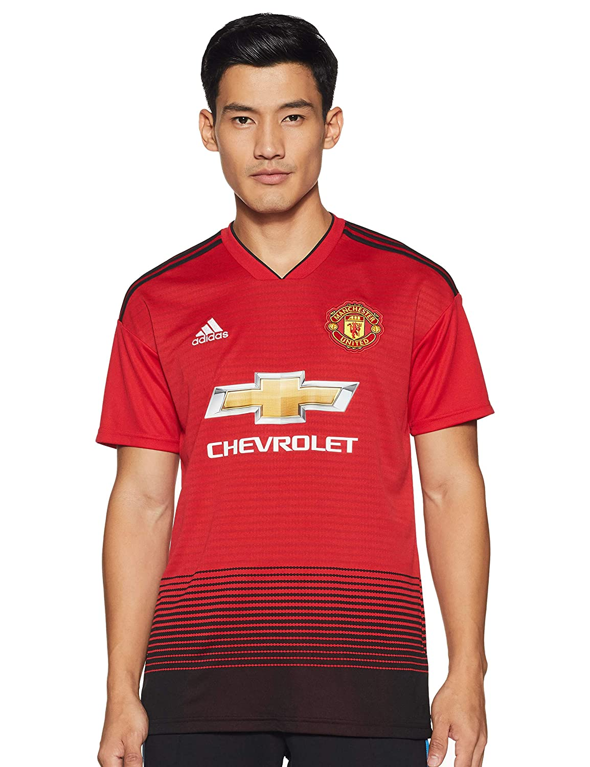 the best attitude af32c c2ed1 adidas 2018-2019 Man Utd Home Football Shirt