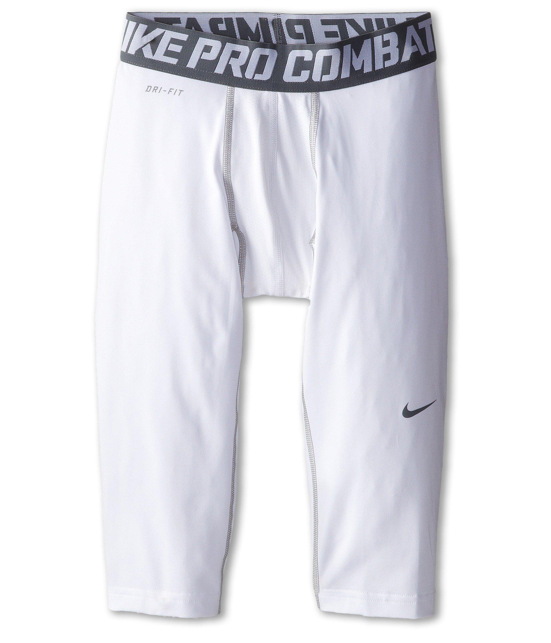 Nike Boy's Pro Combat Core Comp 3/4 Tights Small White