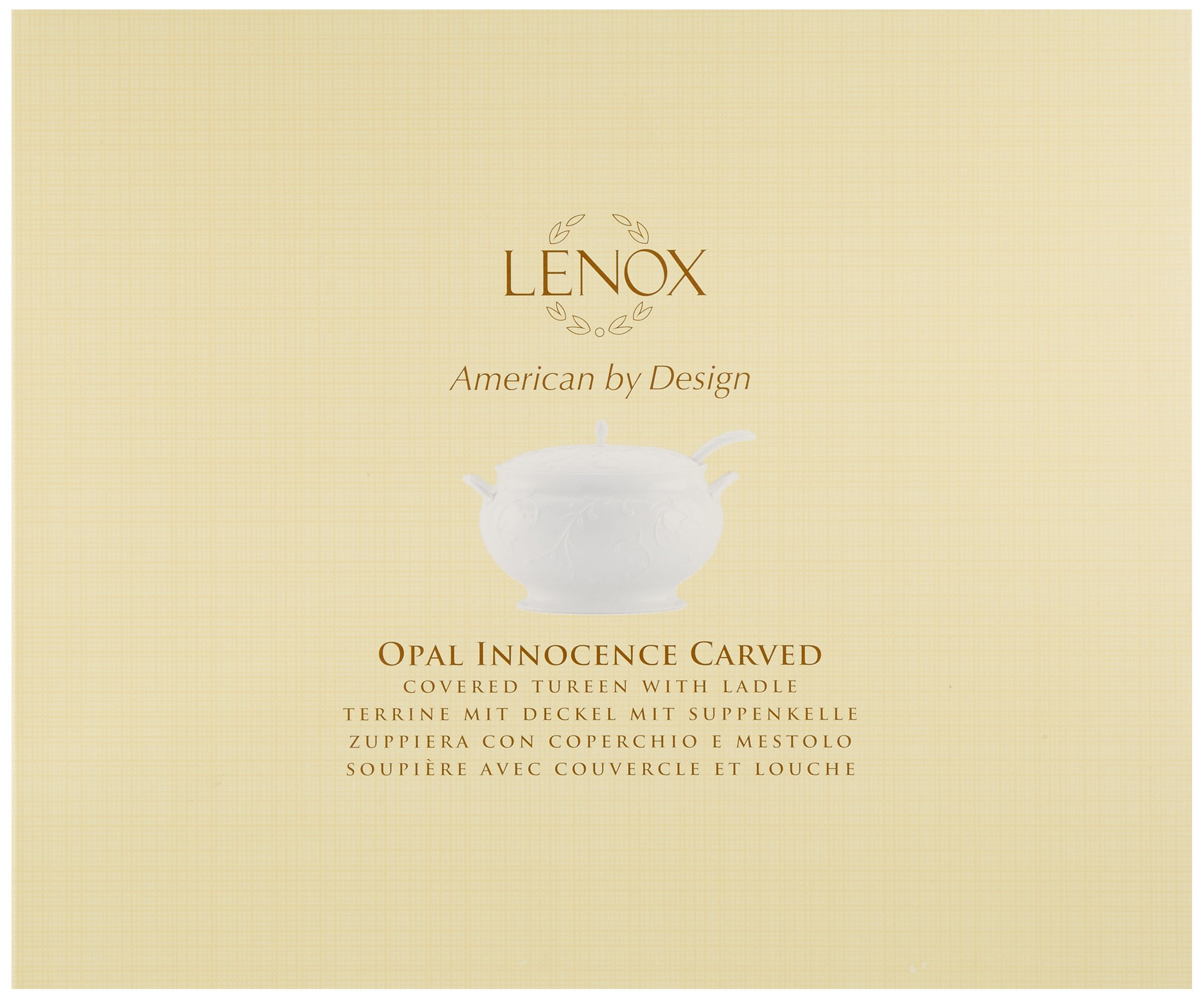 Lenox Opal Innocence Carved Covered Soup Tureen with Ladle, 10-1/4-Inch by Lenox (Image #2)
