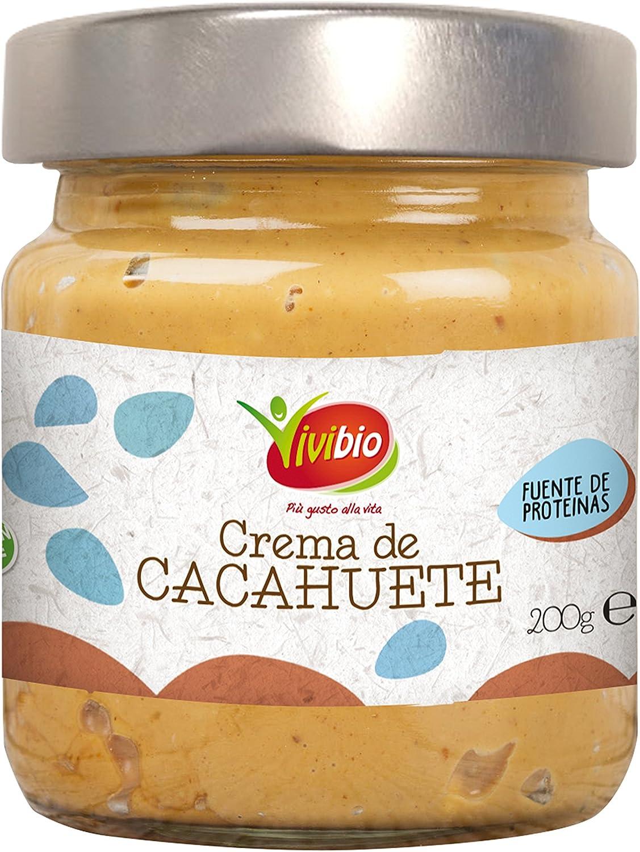 Vivibio Crema de Cacahuetes Smoothie - 4 Paquetes de 200 gr ...