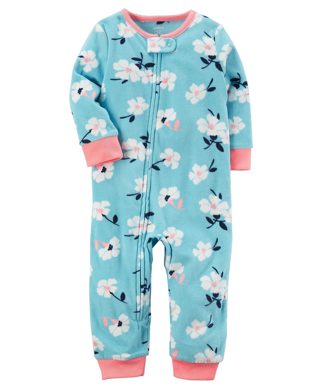f9fd96326 Amazon.com  Carter s Girls  1-Piece Footless Fleece PJs  Clothing
