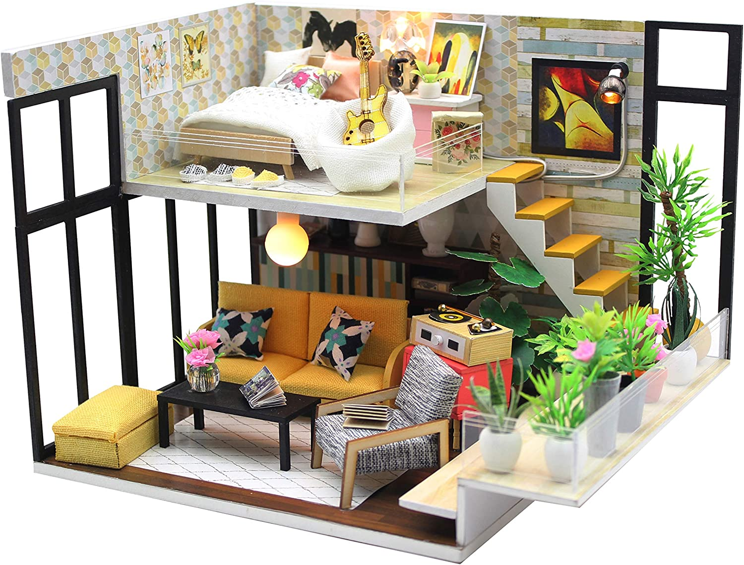 Monarca. Oriana's Holiday. DIY Miniature Dollhouse Kit – Mini House Making Kit with Miniature Dollhouse Accessories – Tiny House Building Kit – Ideal Doll House for Kids and Grown Ups