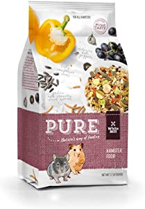 Witte Molen Pure Hamster Food Seed Mixture Mealworms, Sunflower Seeds, Puffed Rice, Grape Nuts, No Artificial Preservatives Dry Food, 1.7 lbs