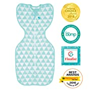 Love To Dream Swaddle UP, Ocean Triangle, Medium, 13-18.5 lbs., Dramatically better sleep, Allow baby to sleep in their preferred arms up position for self-soothing, snug fit calms startle reflex