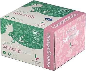 Salvaslip 100% Algodón Biológico 4 Paquetes Biodegradables y ...