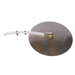 """HomeBrewStuff 12"""" Stainless Domed False Bottom and Silicone Tubing"""