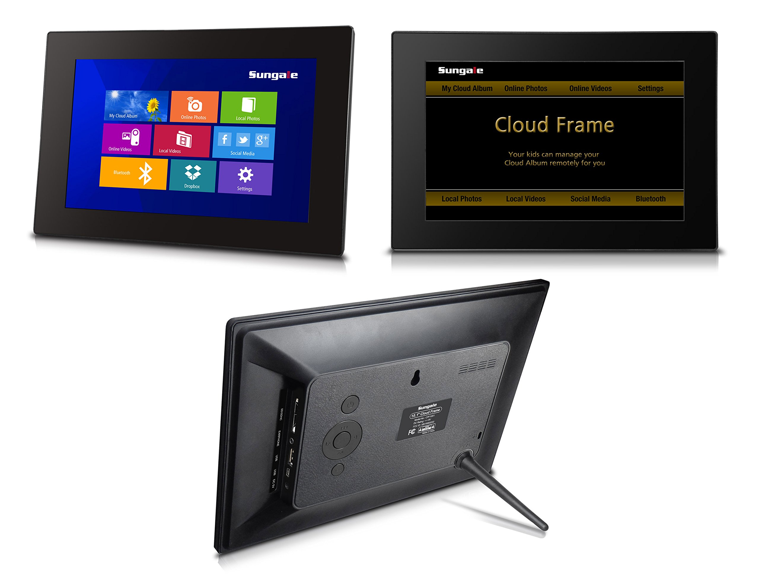 10'' Ultra HD Display Wi-Fi Cloud Frame, Touchscreen, 20GB Free Cloud Storage APP Send Real-time Photos, Social Media, Streaming Music and Movie Playback