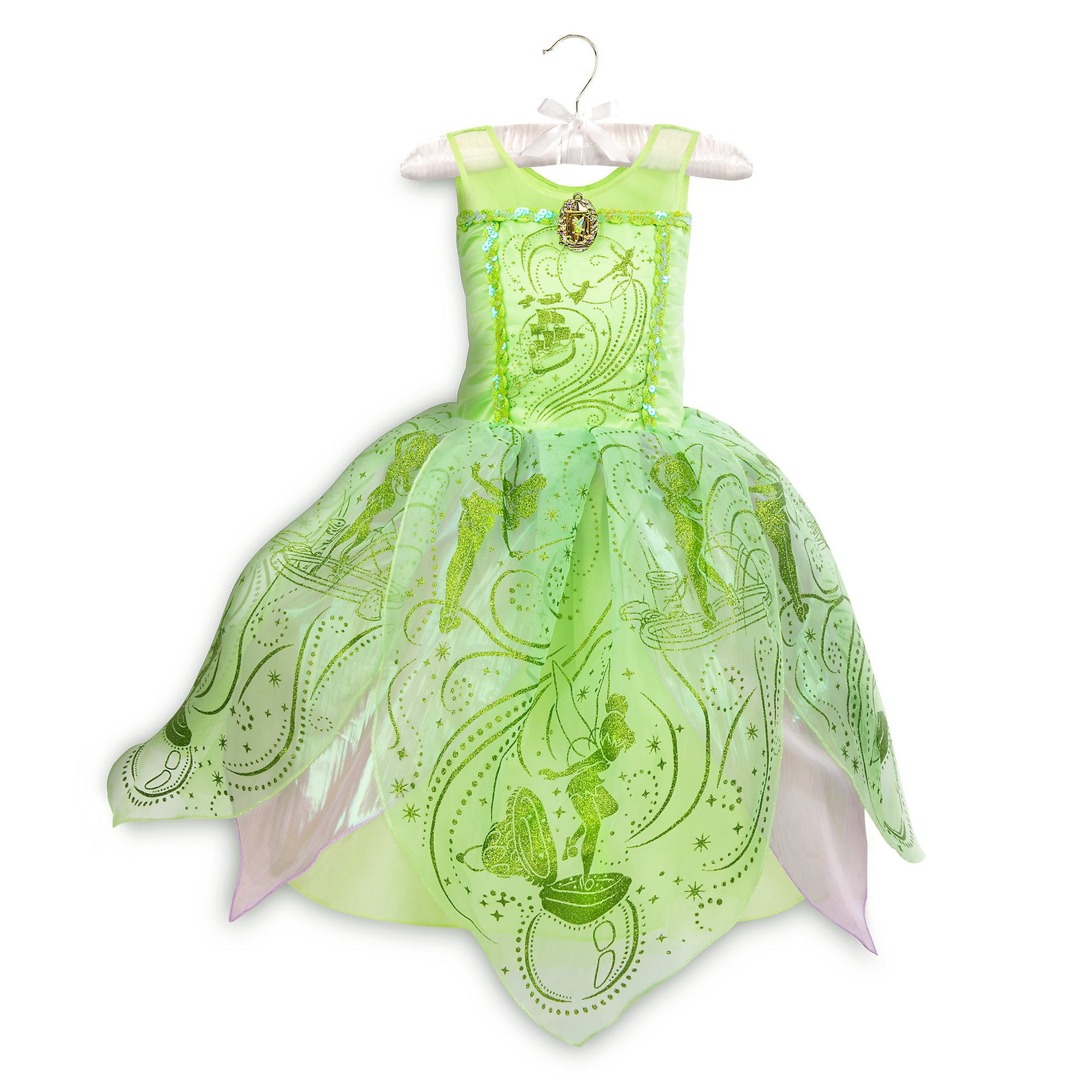 Disney Tinker Bell Costume for Kids - Peter Pan Size 7/8 Green