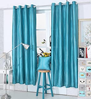 Diamante Curtains Eyelet Ring Top Faux Silk Voile Glitter Sparkle Curtain Panel X1