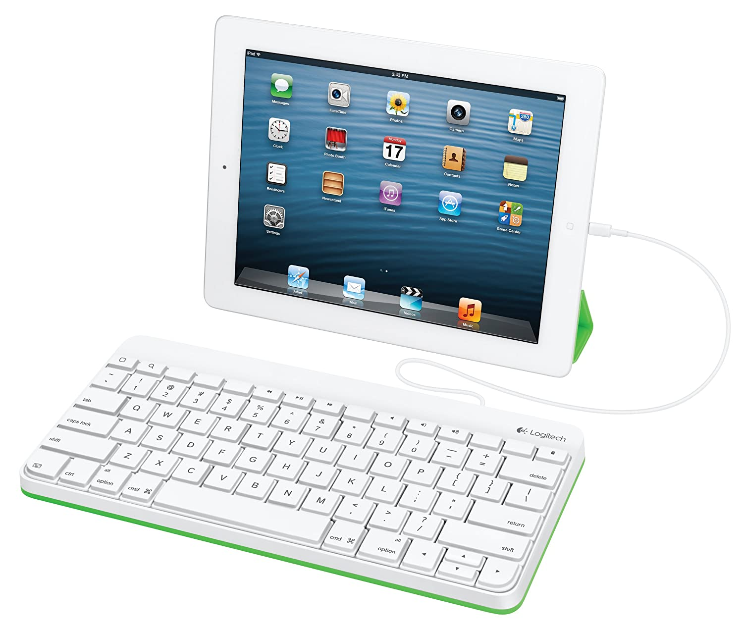 Amazon.com: Logitech Wired Keyboard for iPad with Lightning Connector –  White: Computers & Accessories