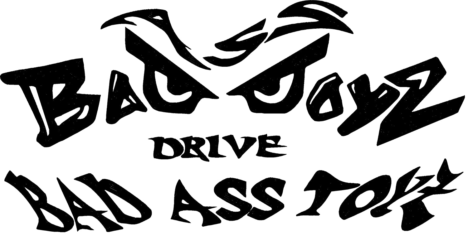 Amazon.com : bad boys drive bad ass toys chevy truck vinyl decal sticker  12'' width by 6'' height (BLACK) : Sports & Outdoors
