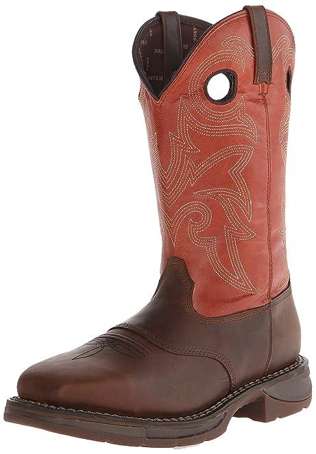 Durango Mens Brown Green Boots Workin' Rebel 12 Inch Western