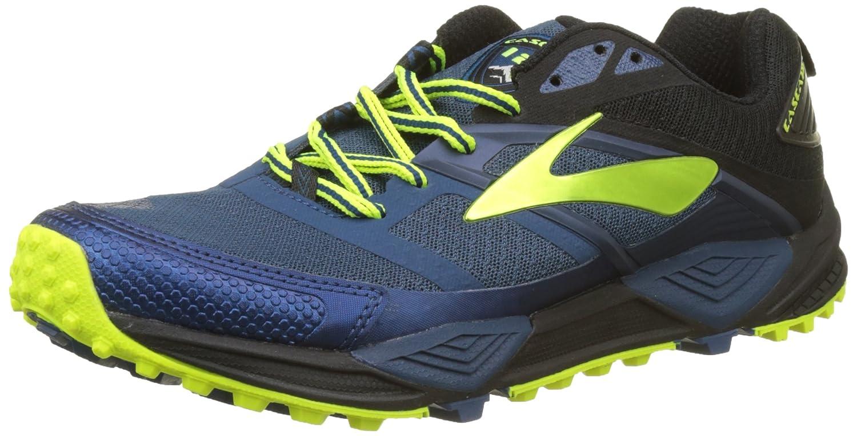 Brooks Cascadia 12, Zapatillas de Running para Asfalto para Hombre 44.5 EU Multicolor (Blue/Black/Nightlife 1d419)