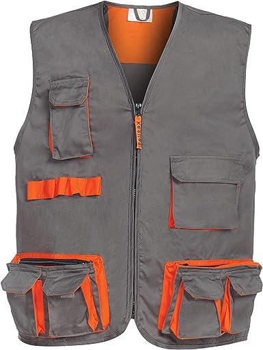 Gris//Orange DINOZAVR Sigma Pantalon de Travail//Cargo et Shorts de Travail pour Homme 2 en 1