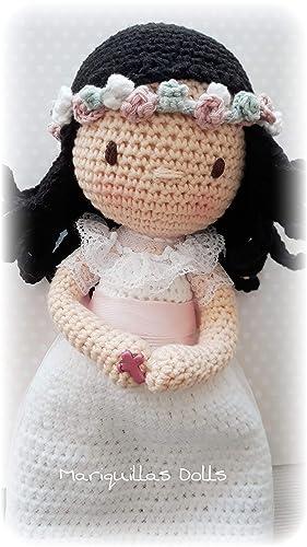 Muñeca crochet PERSONALIZADA COMUNIÓN Mariquilla ...