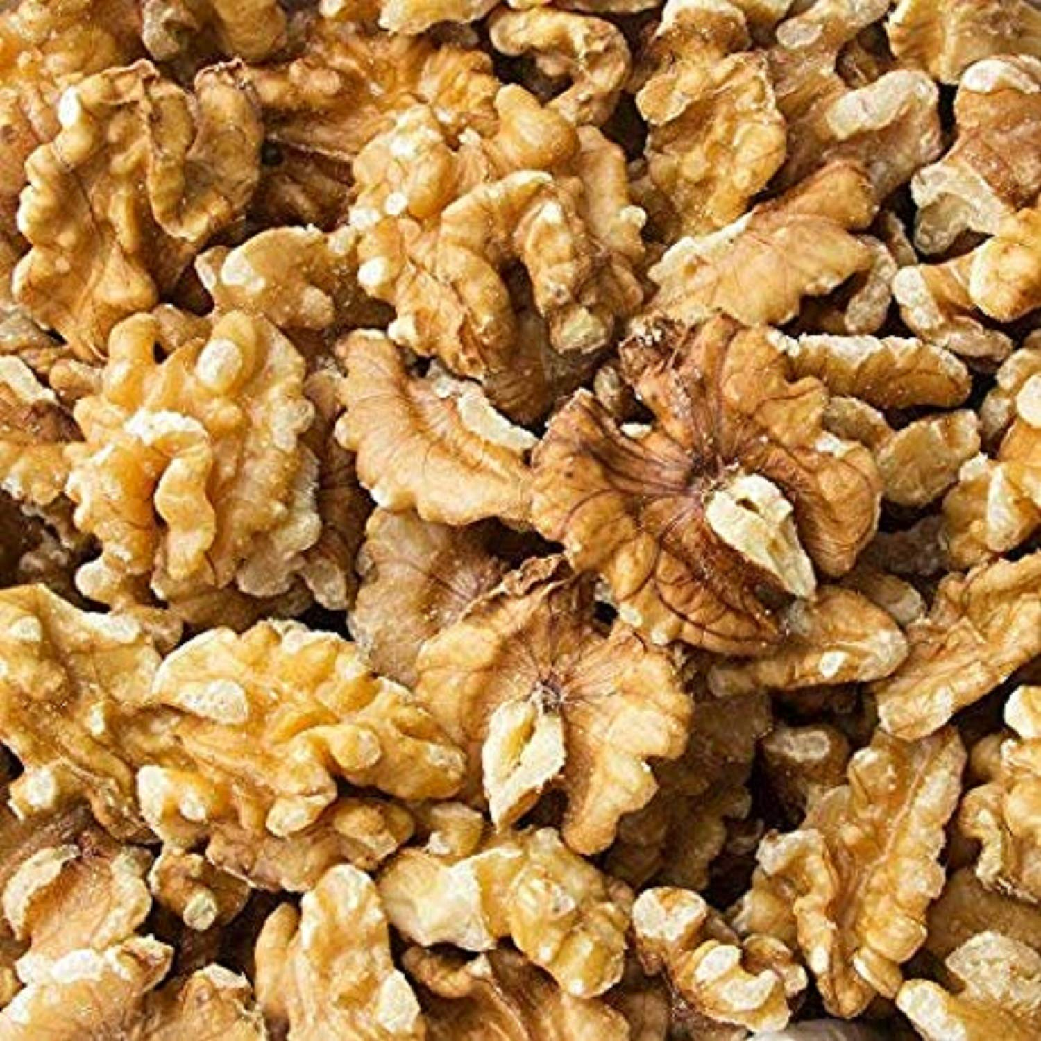 Freshly Harvested California Light Chandler Raw shelled Walnuts Halves & Pieces - 5 LB