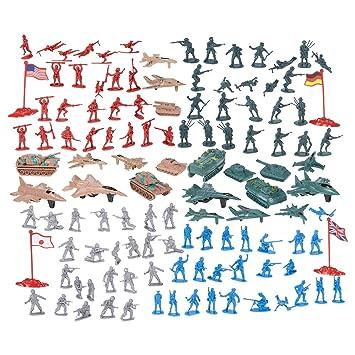 Juvale 124 - Figuras Militares y Accesorios, diseño de Soldados del ejército de Juguete en