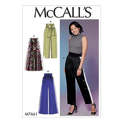 66d08180b MCCALL 's Patterns 7661 E5 de Costura para Pantalones Patrones de ...