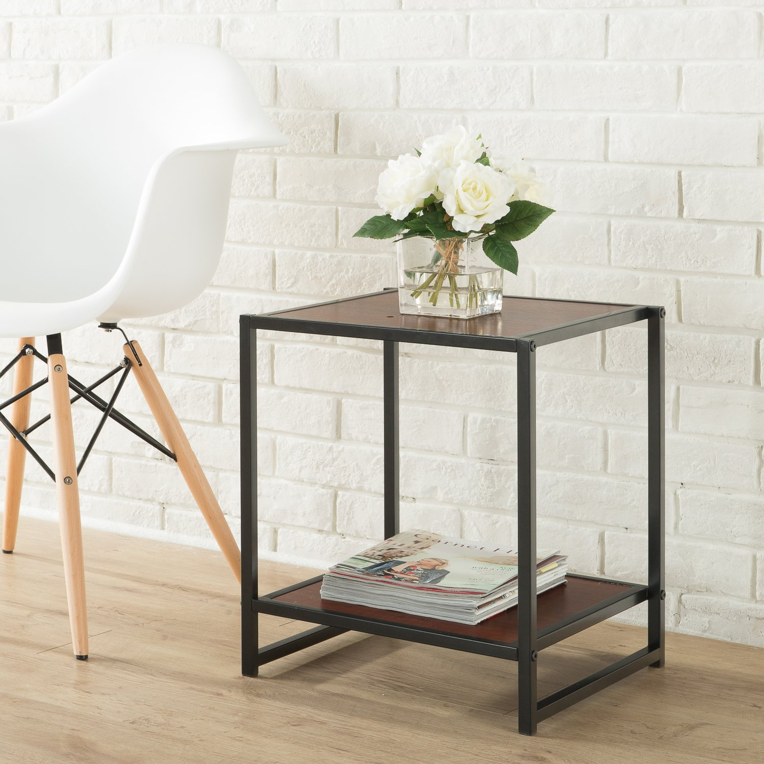 Zinus Modern Studio Collection 15 Inch Square Side Table / End Table / Coffee  Table - Amazon.com: Tables - Living Room Furniture: Home & Kitchen: Coffee